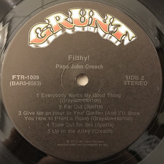 PAPA JOHN CREACH:FILTHY!(LABEL SIDE-B)