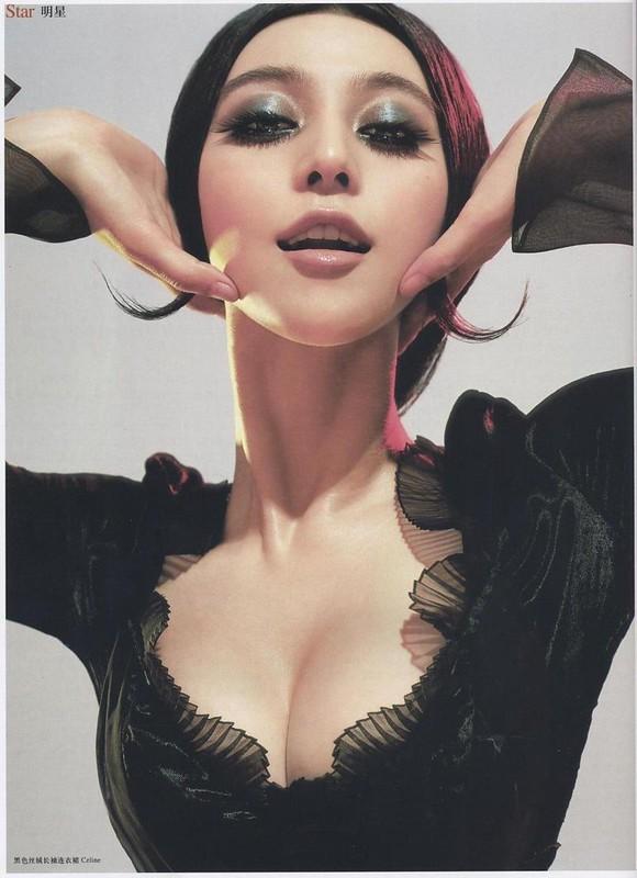 黒色ベルベット地の長袖ドレス:ファン・ピンピン ロフィシェル 第166号 2006年7月号 チェン・マン チャン・タン