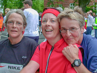 Edith, Claudia, Gisela im Ziel
