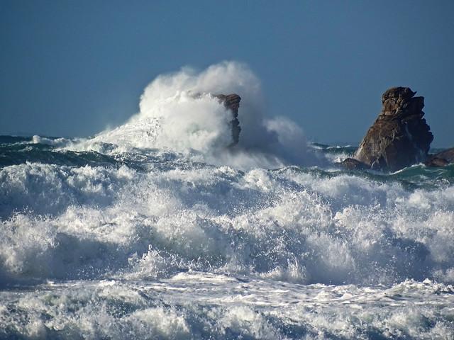 tempête à la côte sauvage de Quiberon