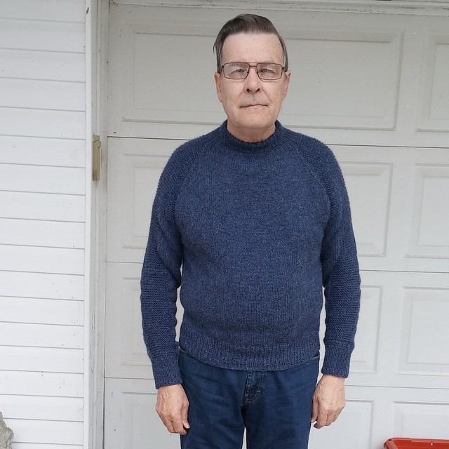 Cathy E's Flax knit in Berroco Ultra Aplaca for her husband!