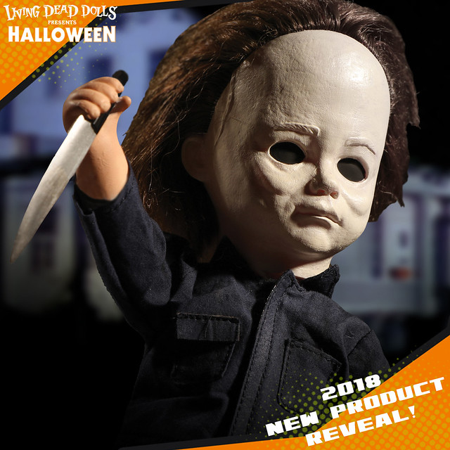 這樣有比較不可怕嗎?! MEZCO 活死人娃娃系列《月光光心慌慌》麥克·邁爾斯 Living Dead Dolls Presents Michael Myers