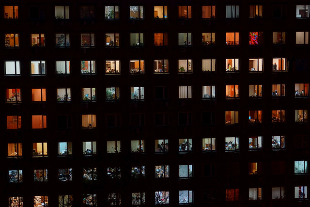 Many Rows of Office Windows