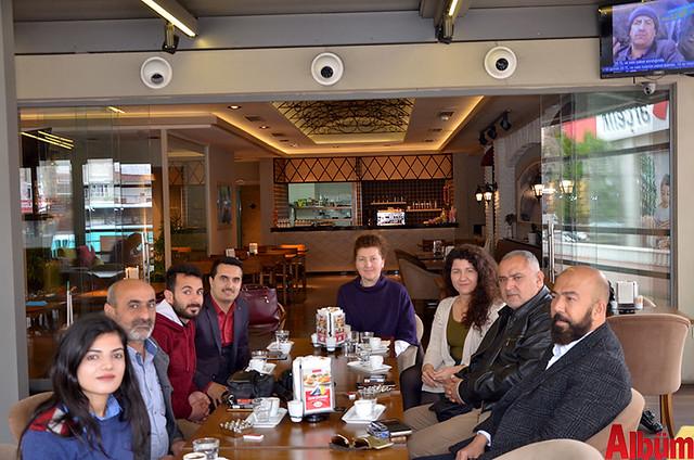 Faruk Güllüoğlu İşletme Müdürü İbrahim Alagöz - basın kahvaltı