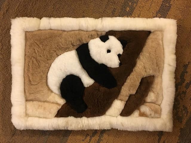 Panda alpaca mat