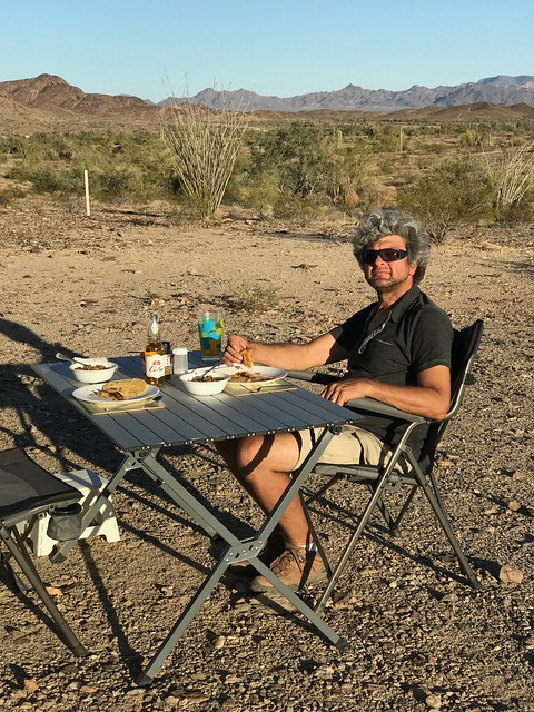 Quartzsite - Pierre with dinner