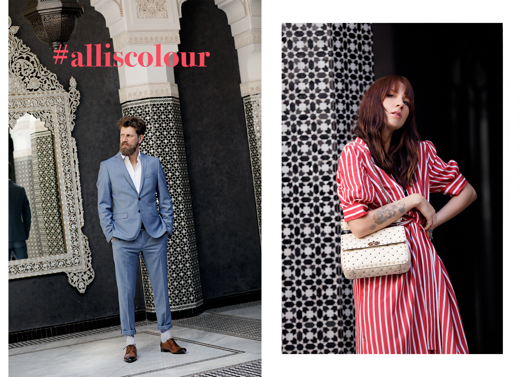 outfit breuninger alliscolour spring fashion sandro dress red stripes valentino rockstud spike luxury handbag espadrilles french chic mode parisienne paul suit anzug menfashion ricarda schernus catsanddogsblog max bechmann düsseldorf 3