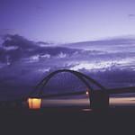 2015-09-06_20-36-08 - Fehmarnsund Brücke im Dunkeln