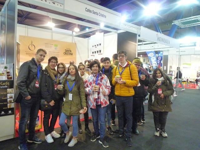 Alumnos de 1º y 2º de FPB de Cocina y Restauración visitaron el Salón de Hostelería y Turismo de Málaga.