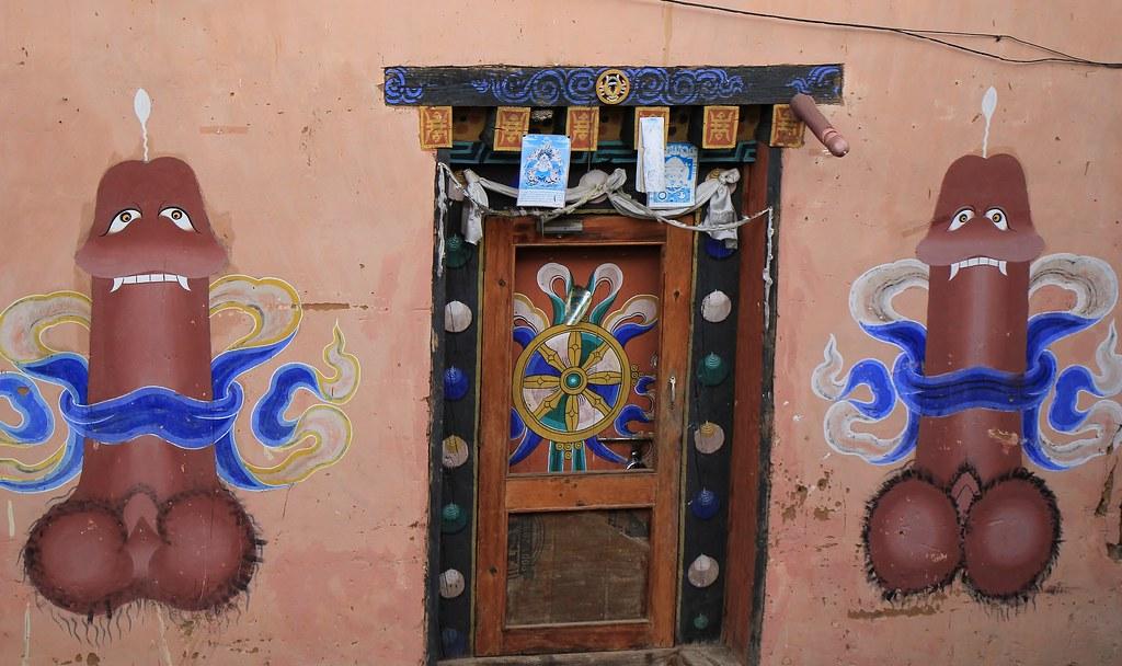 Templo de la fertilidad en Bután