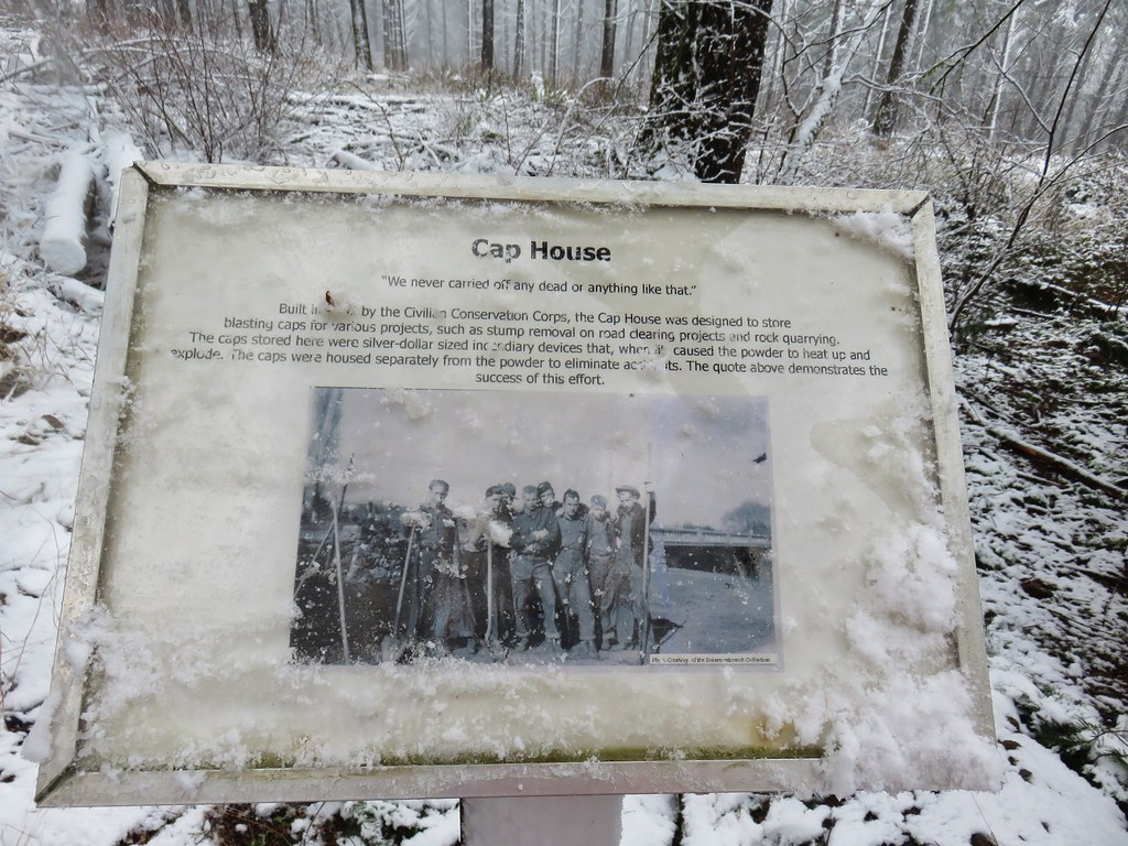Interpretive sign at the Cap House