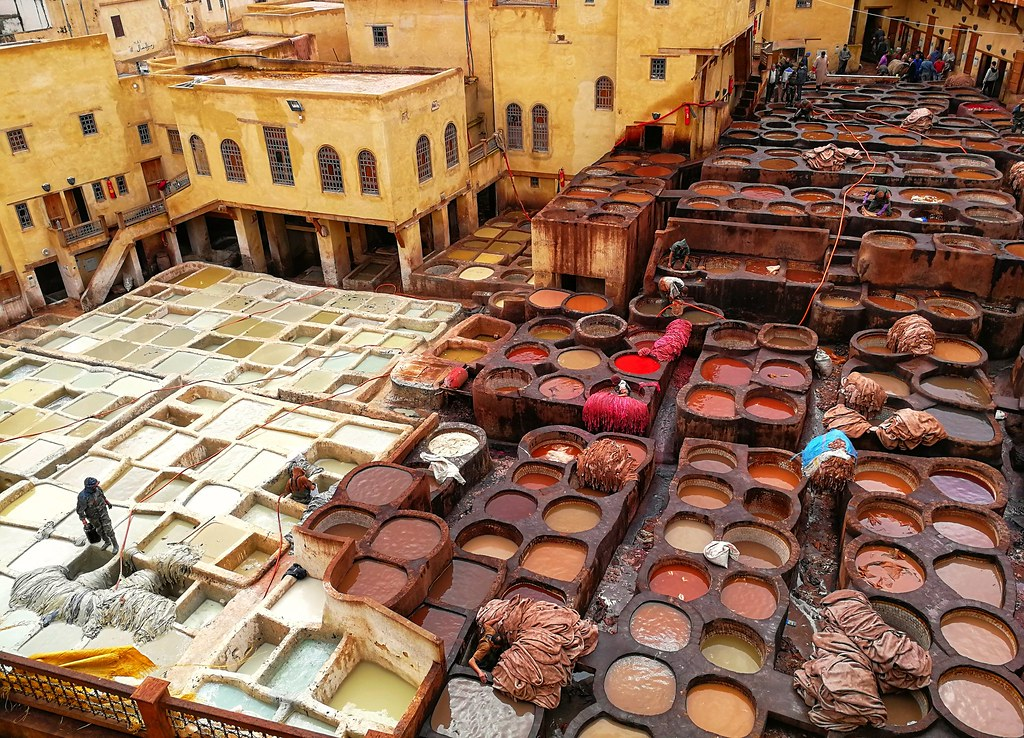 Chaouwara Tanneries, Fes, Morocco