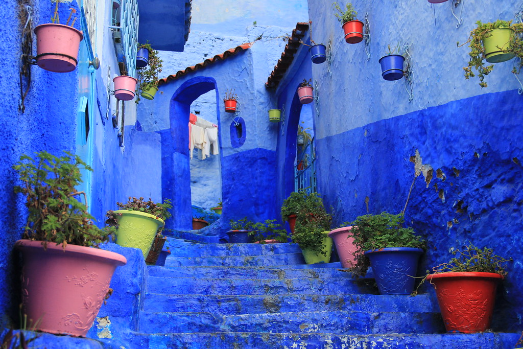 Callejon El Asri, Chefchaouen's most photographed street