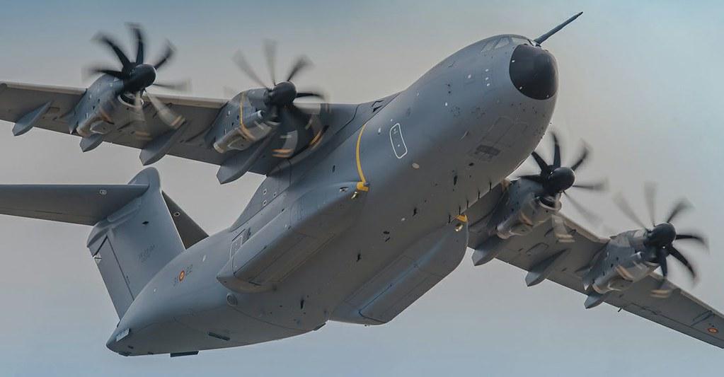 El A-400M durante un vuelo