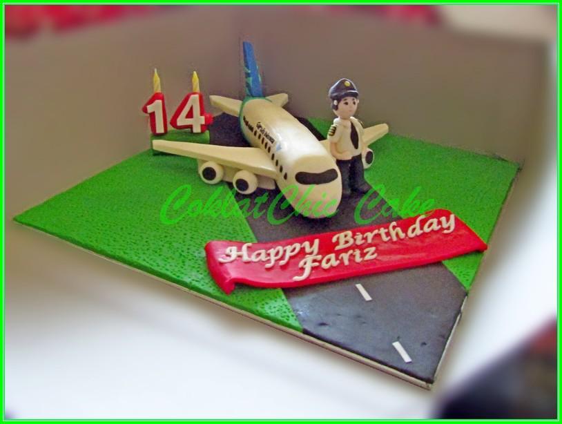 Cake Pesawat Garuda FARIZ 18cm