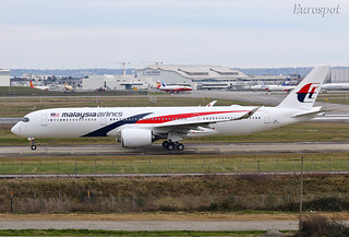 F-WZFC Airbus A350 Malaysia Airlines