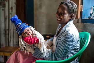 Rehema and her healthy newborn son, Tanzania