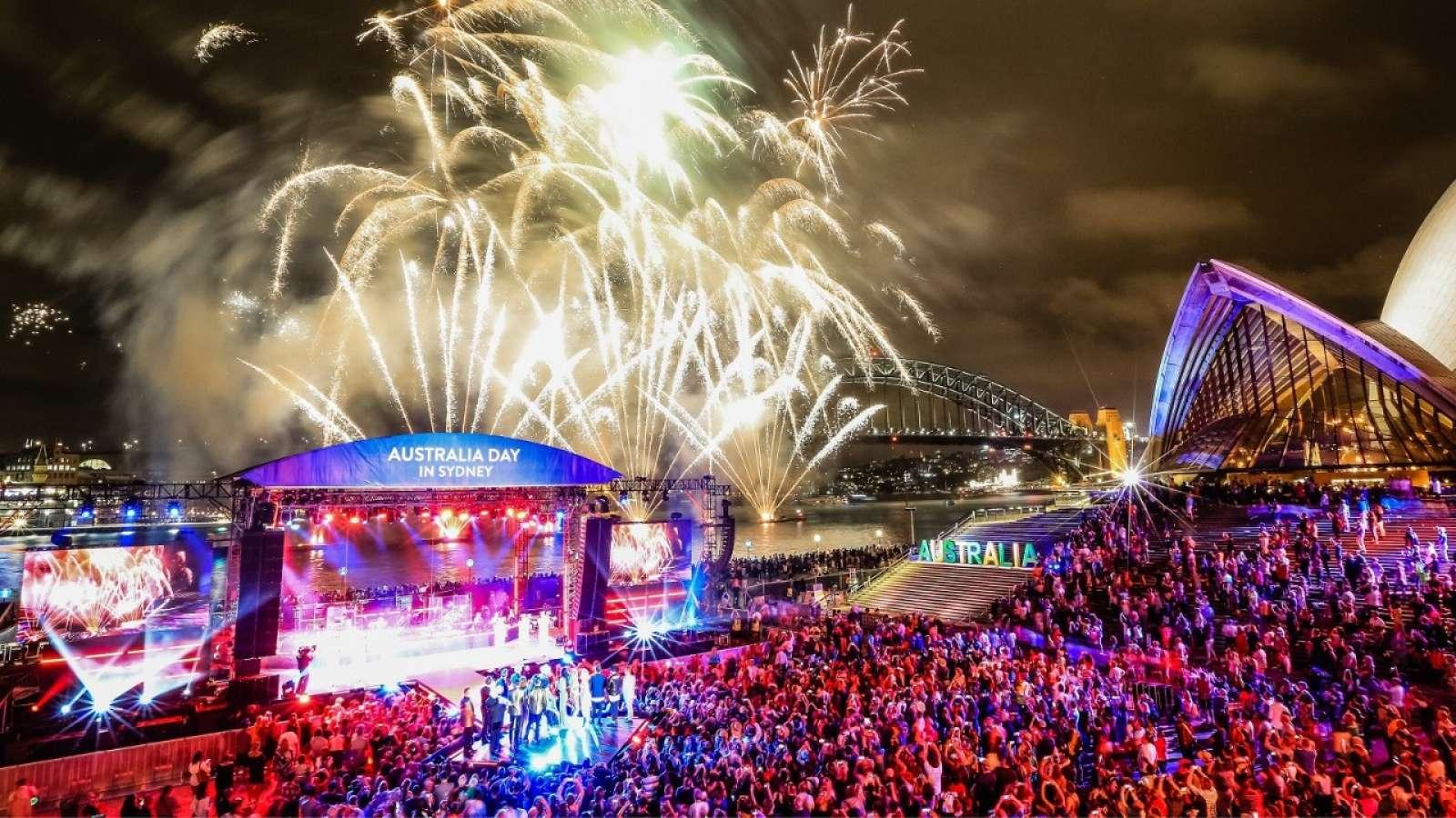 Australia Day celebrations at Sydney Opera House.