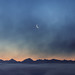 Moonrise over the Alps - Switzerland by Rogg4n