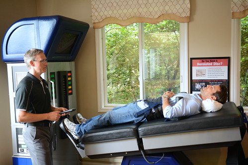 Man Getting Spinal Decompression