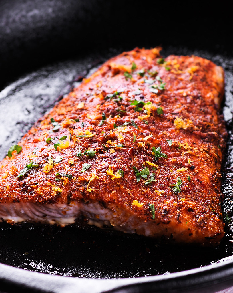 Easy Roasted Cajun Salmon