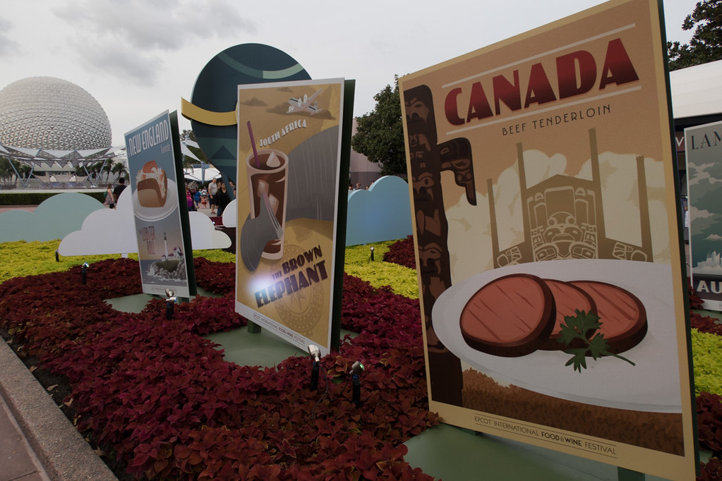 Posters and signs at EPCOT Food and Wine Festival