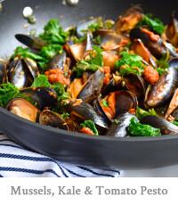 Mussels, Kale & Tomato Pesto