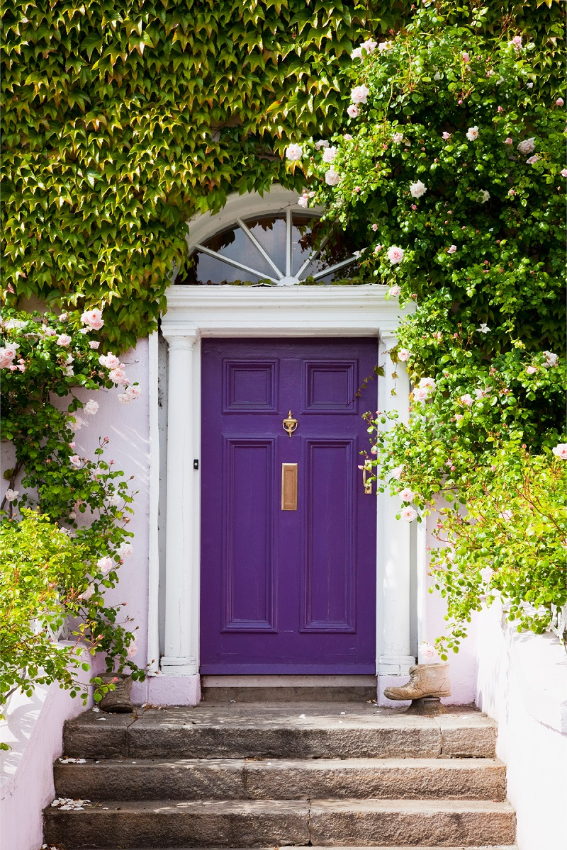 ultra violet decor decorating pantone color of the year 2018 purple front door