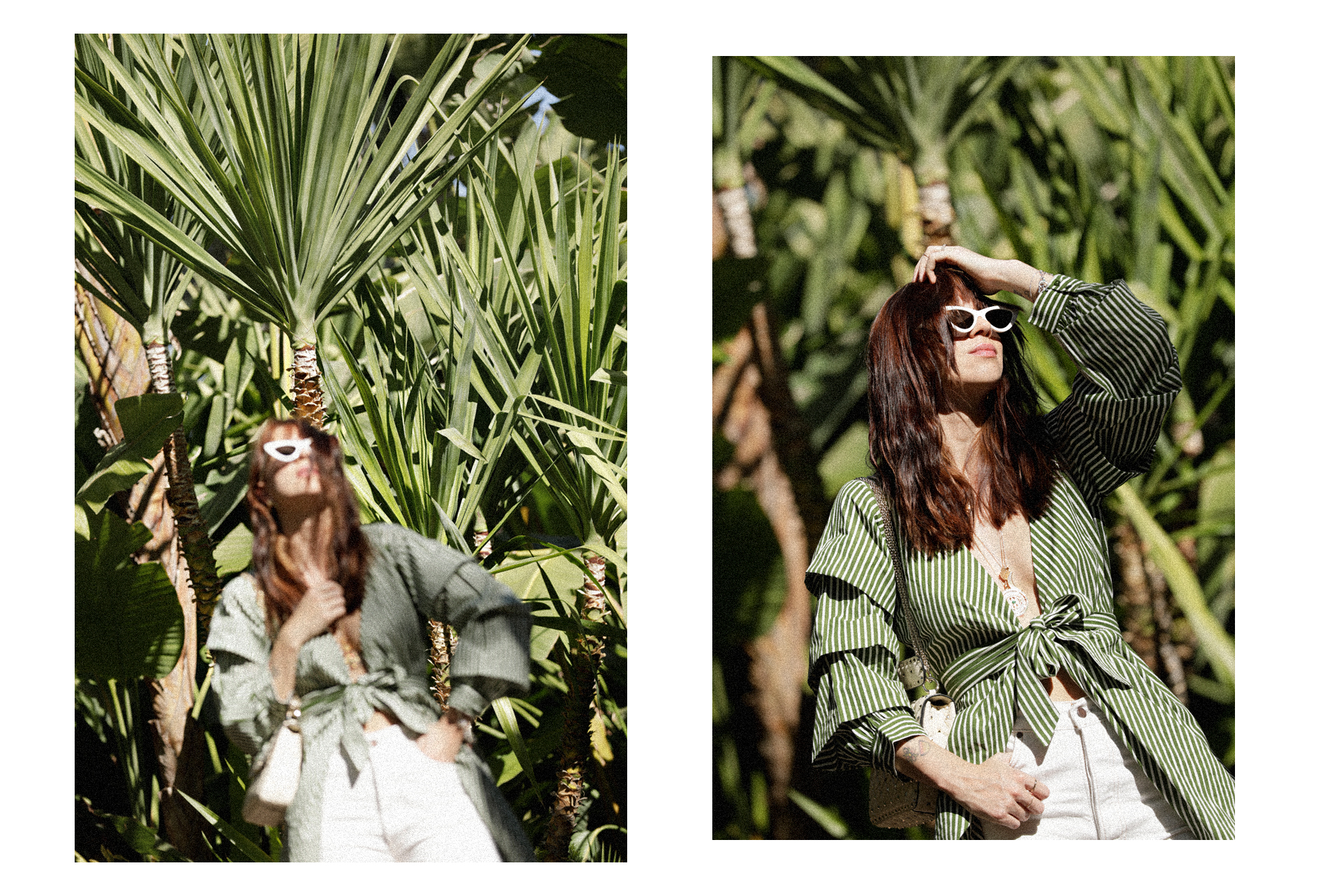 selman marrakech jungle palm tree banana leaves green dress vila breuninger maison valentino hermès oran adam selman x le specs sunglasses last lolita dress as top stripes green max bechmann fotografie film düsseldorf ricarda schernus catsanddogsblog 4