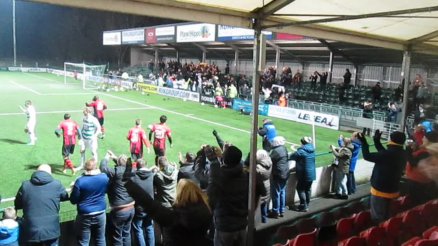 Sons' Victory Celebrations At Park Hall Stadium Oswestry
