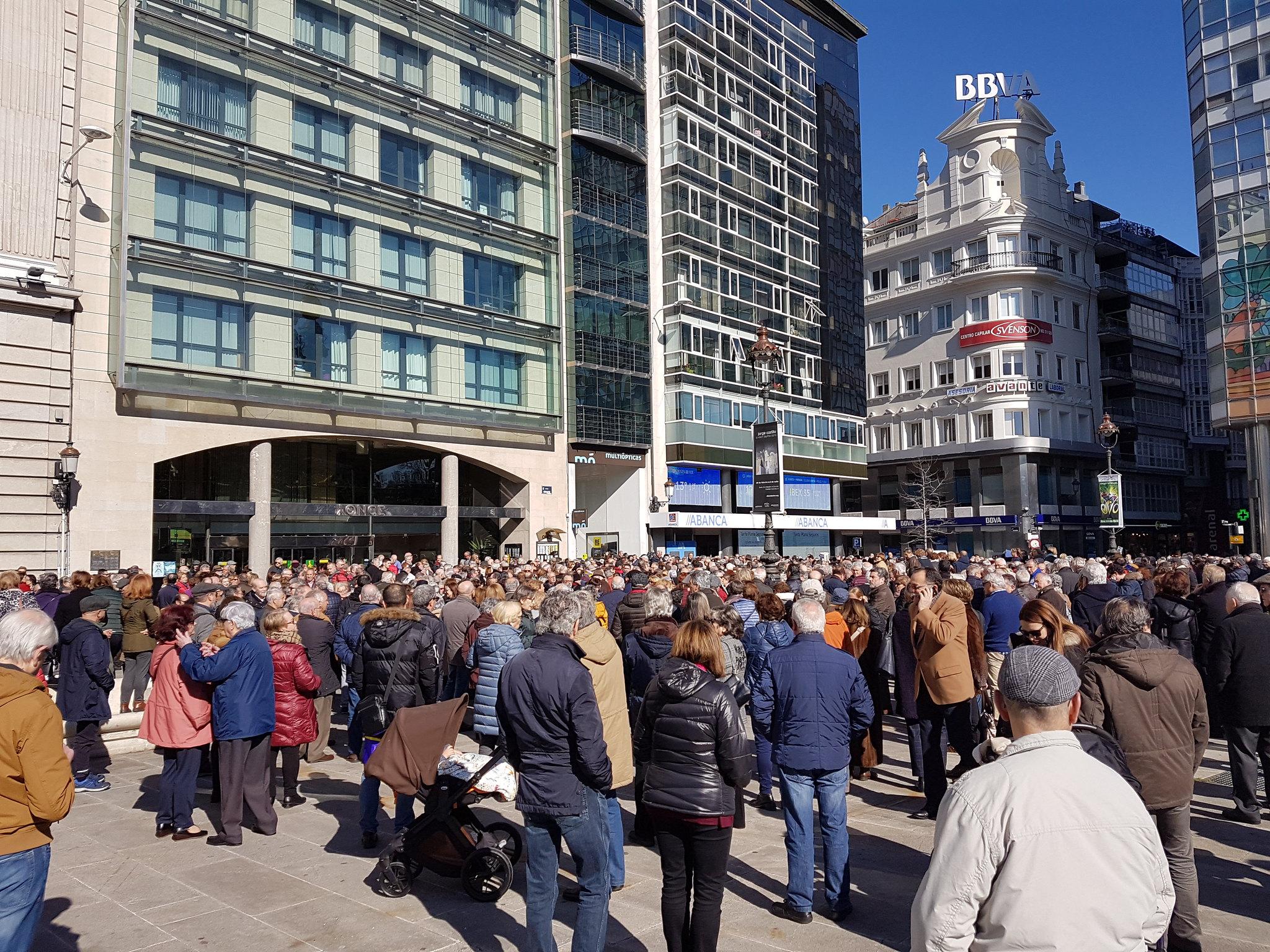 Jubilados en la calle en defensa de su poder adquisitivo y del Sistema Publico de Pensiones