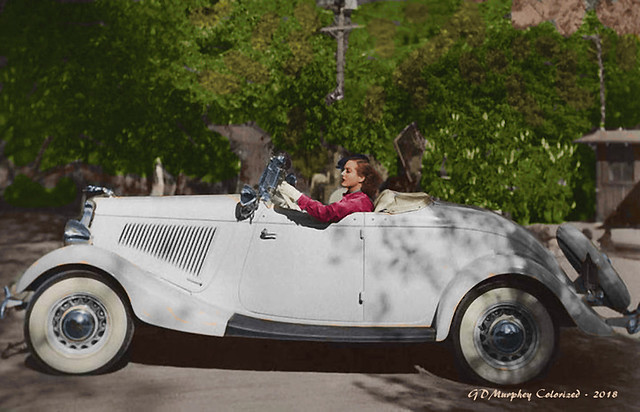 Joan Crawford 1934 Ford Colorized
