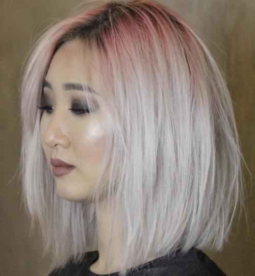 2018 Stylish & Sassy Bobs for Round Faces 2