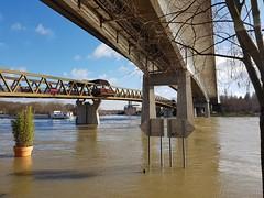 Ponts sur la Seine pendant les inondations  Conflans-Ste-Honorine - Photo of Courcelles-sur-Viosne