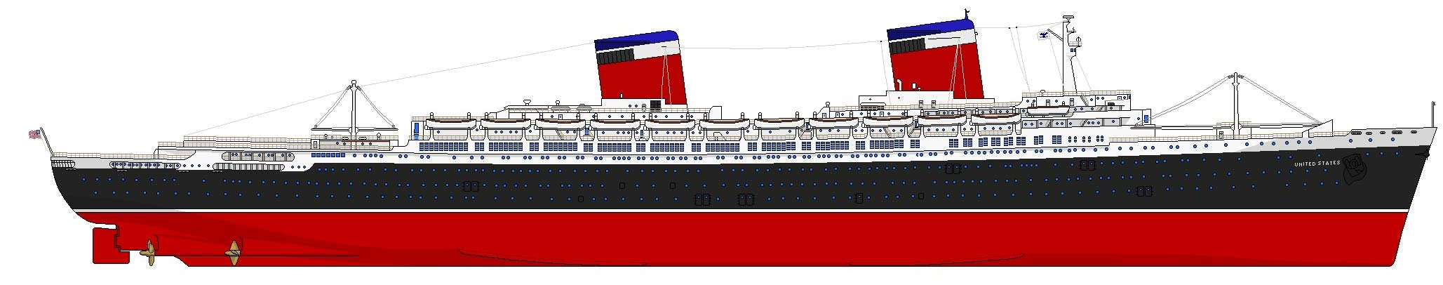 S.S. United States, United States Lines (1952)