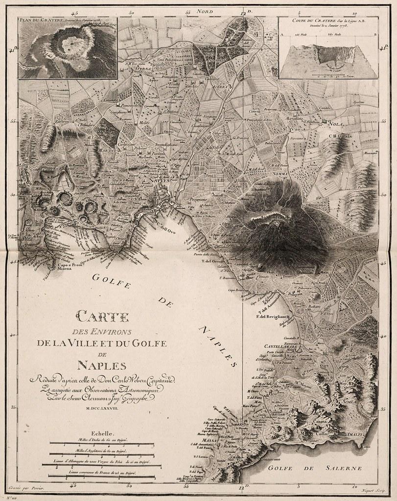 Carlo Weber - Carte des Environs de la Ville et du Golfe de Naples (1778)