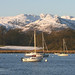 Crinkle Crags and Bowfell across Windermere, Cumbria
