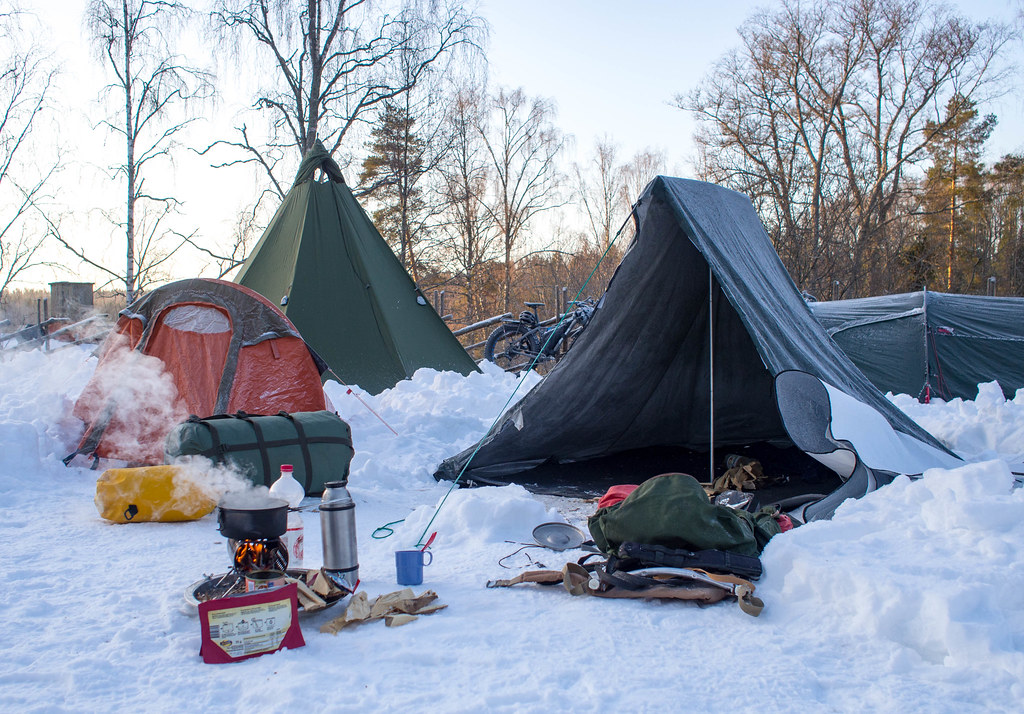 What type of tent is best for winter camping in Finland?