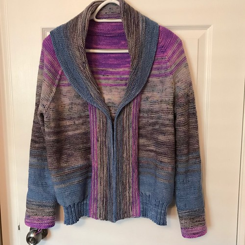Sue2Knits Comfort Fade Cardi - Front, March 2, 2018
