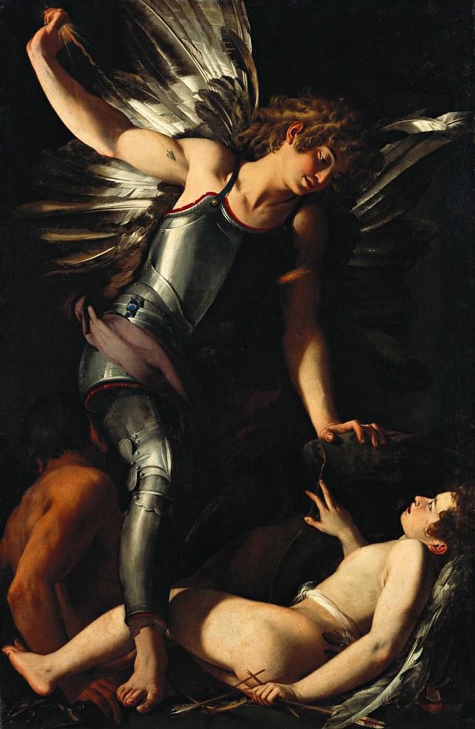 Giovanni Baglione - The Divine Eros Defeats the Earthly Eros (c.1602)