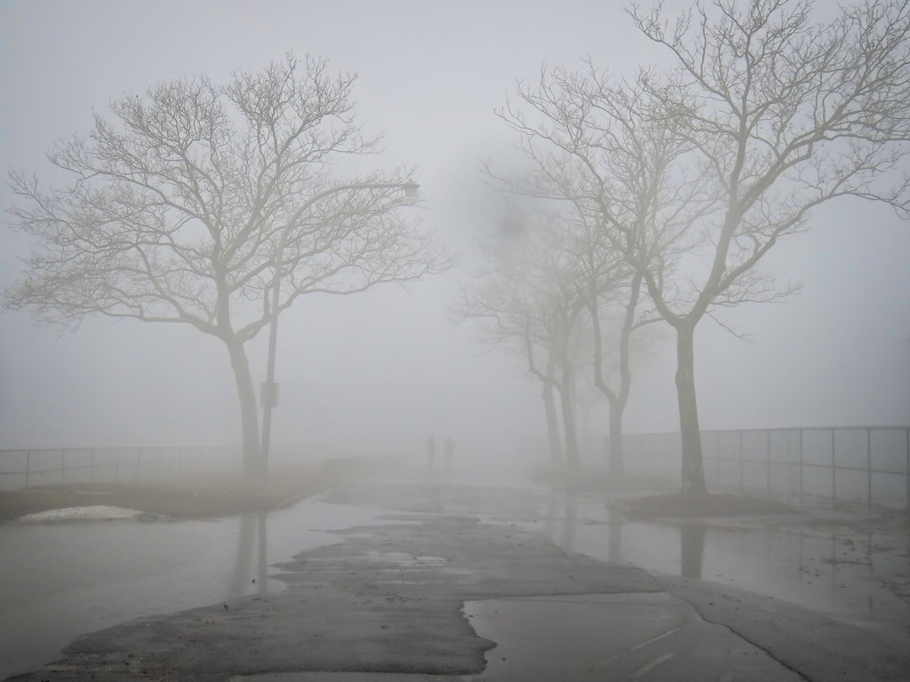 Governors Island in the fog