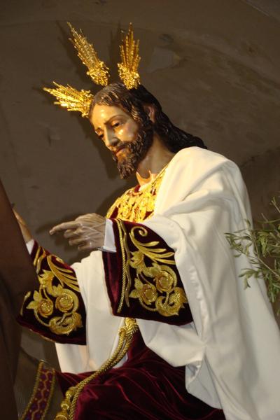 """Real Hermandad y Cofradia de Nazarenos de la Sagrada Entrada de Jesús en Jerusalen y Nuestra Señora de la Estrella (DOS PASOS).""""La Borriquita""""."""