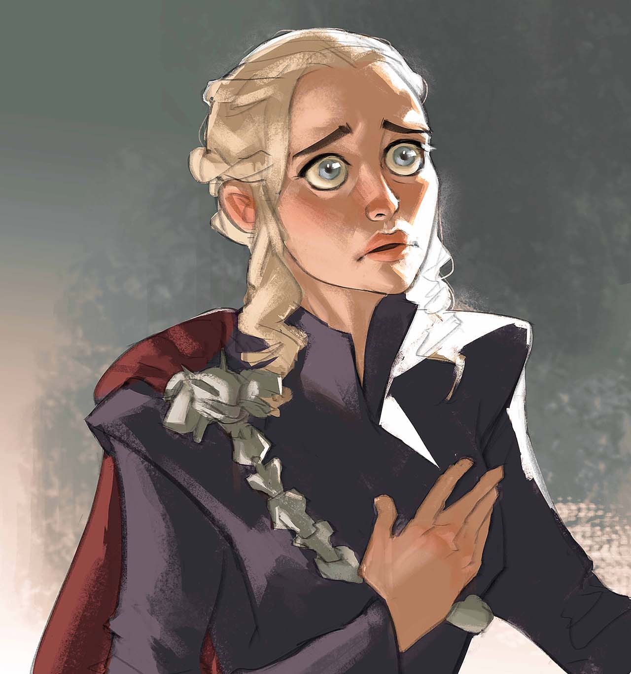Artist Creates Unique Character Arts From Game Of Thrones – Daenerys Targaryen Character Art By Ramón Nuñez