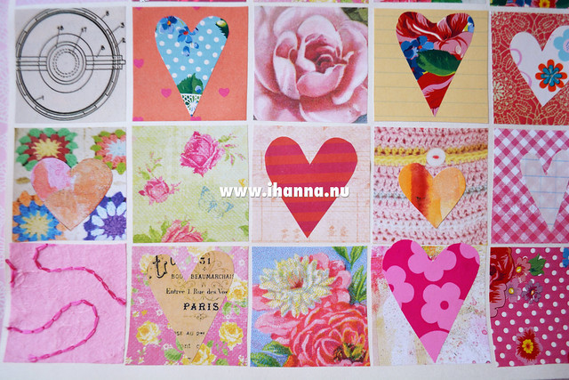 Share the LOVE heart collage detail