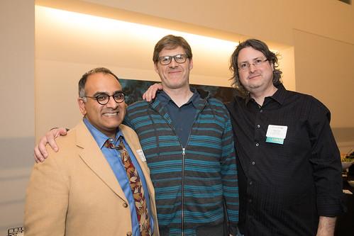 Ravi Rajan, Dean Wellins and Chris Ure '91