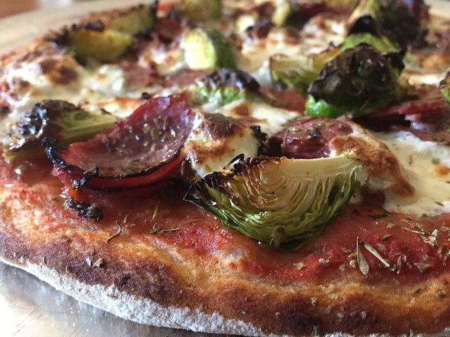 Pastrami/Brussels Sprouts Pizza