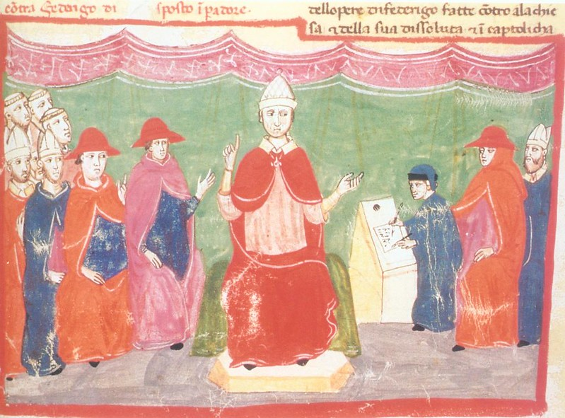 Excommunication of Holy Roman Emperor Frederick II by Pope Innocent IV at First Council of Lyons