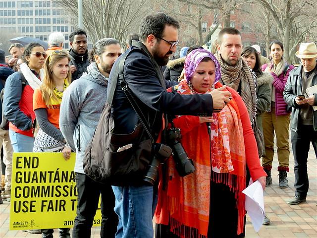Maha Hilal reads out a Guantanamo letter