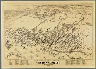Panoramic view of the city of Vancouver, British Columbia, 1898 / Vue panoramique de la ville de Vancouver (Colombie-Britannique), 1898