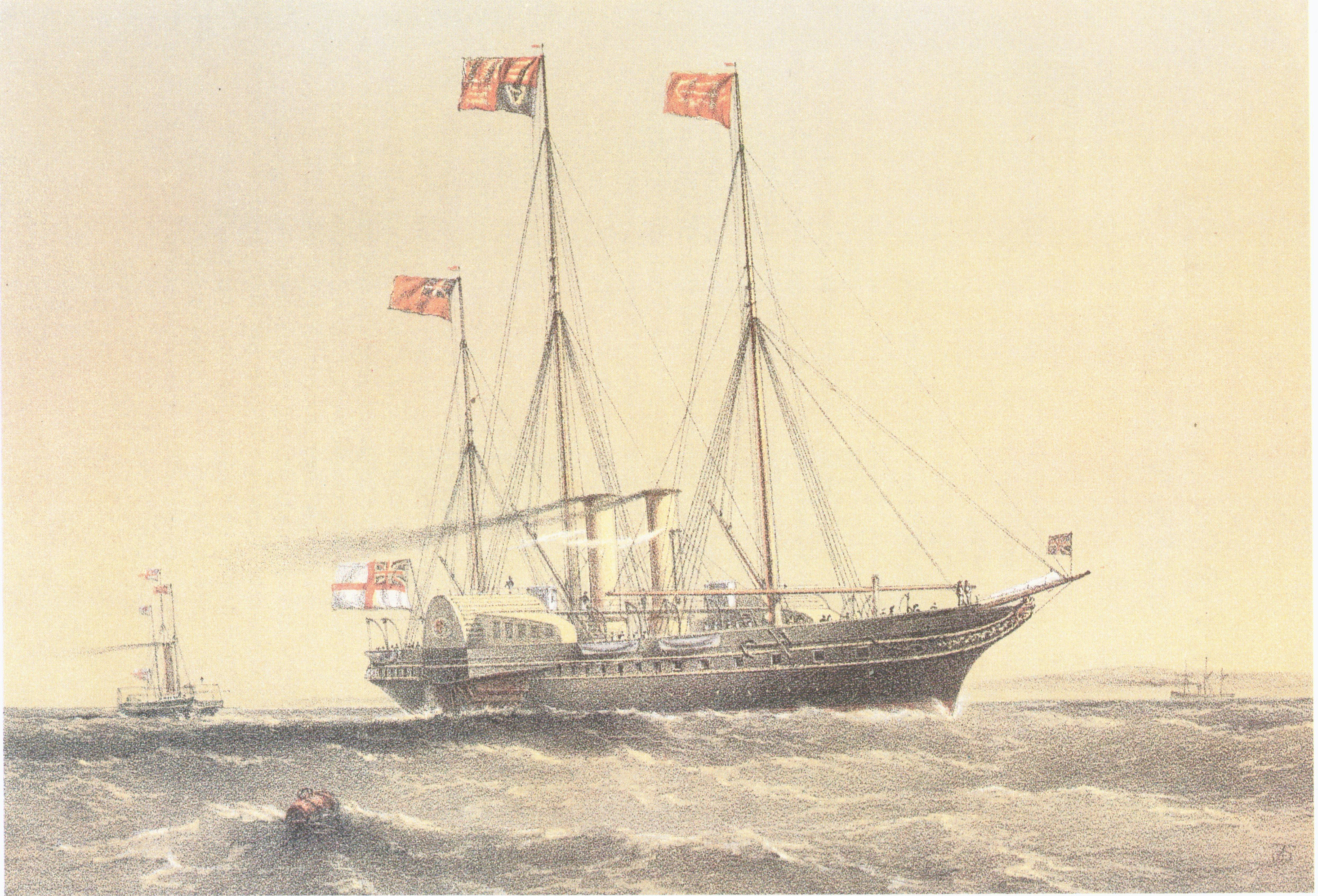 A painting of HMY Victoria and Albert II by William Frederick Mitchell